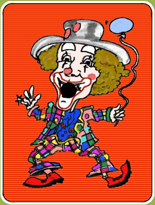 Clown Kevin magic card
